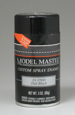Testors Model Master Flat Black Enamel 3oz Spray Paint