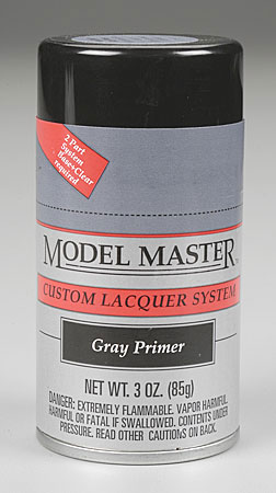 Testors Model Master Gray Primer Lacquer 3oz Spray Paint