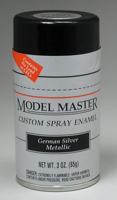 Testors Model Master German Silver Metallic Enamel 3oz Spray Paint