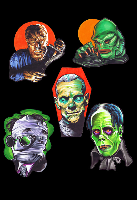 Universal Monsters Classic Halloween Wall Decor Set Series 1