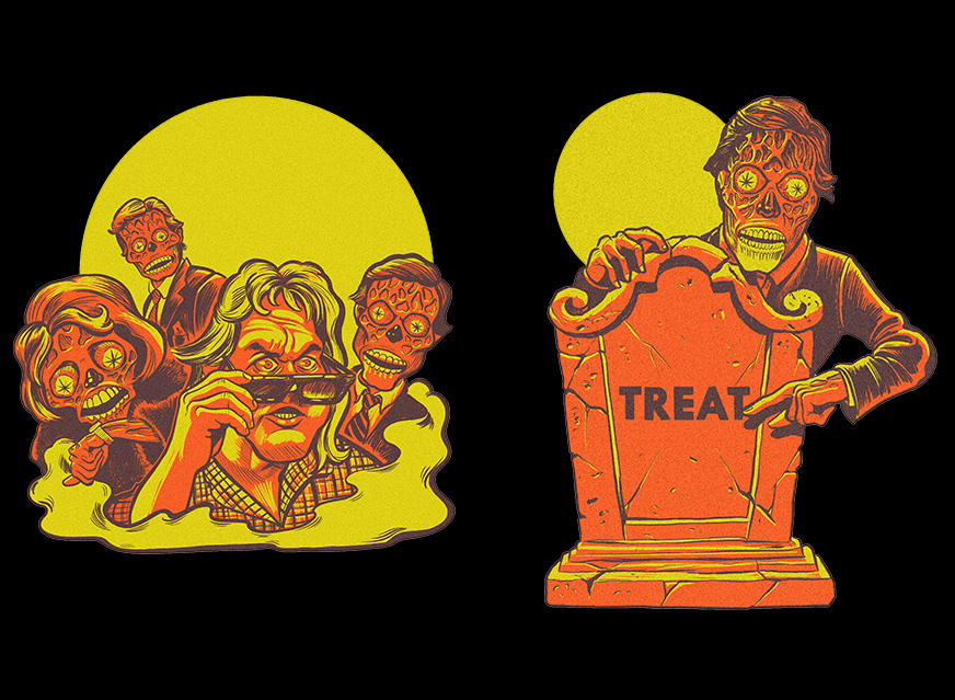 They Live John Carpenter Classic Halloween Wall Decor Set Series 1