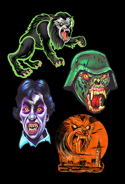 American Werewolf In London Classic Halloween Wall Decor Set Series 1
