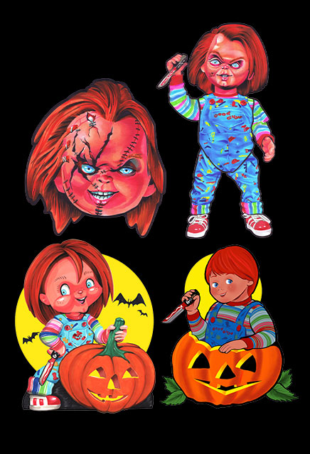 Child's Play Chucky Classic Halloween Wall Decor Set Series 1