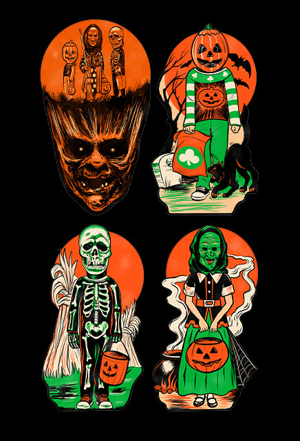 Halloween III Season of the Witch Classic Halloween Wall Decor Set Series 1