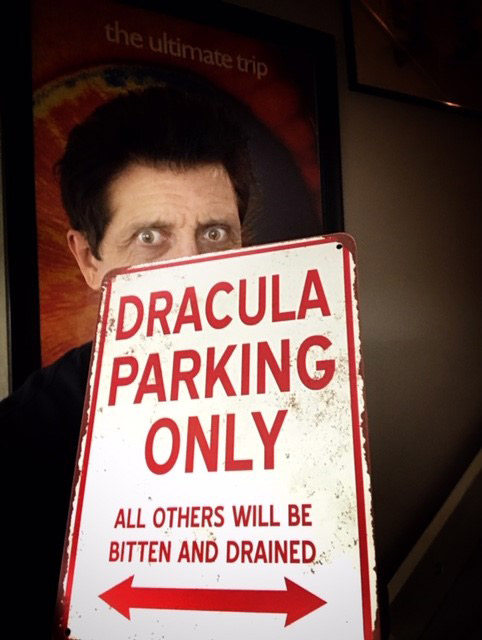 "Dracula Parking Only Metal Sign 9"" x 12"""