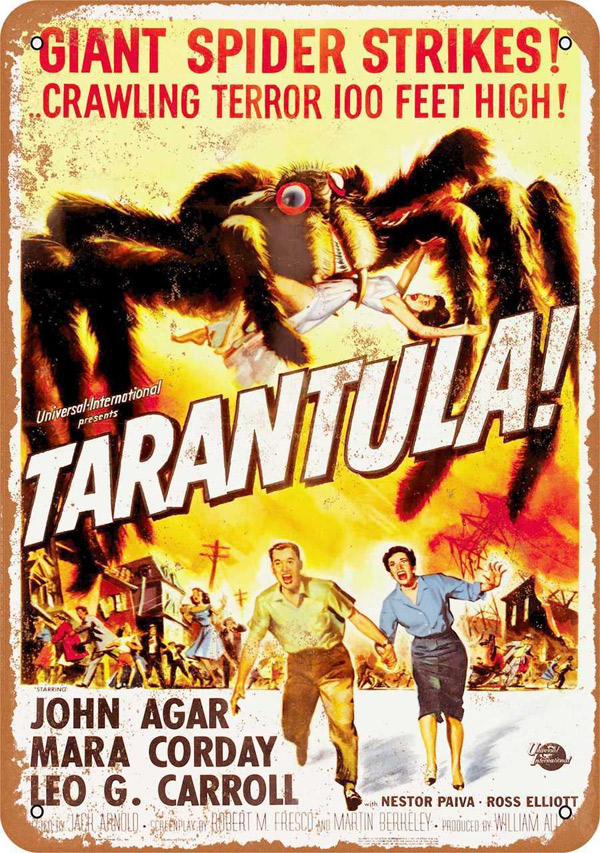 "Tarantula! Movie Poster Metal Sign 9"" x 12"""