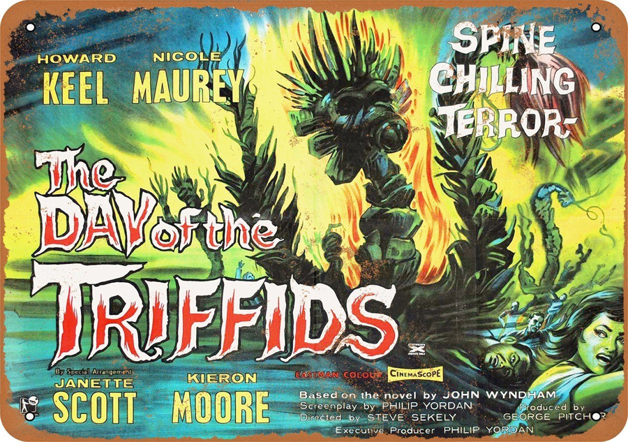 "Day of the Triffids 1962 10"" x 14"" Metal Sign"