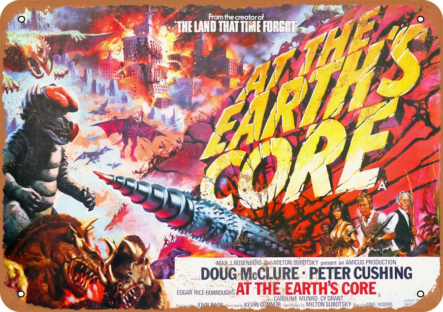 "At The Earth's Core 1976 10"" x 14"" Metal Sign"