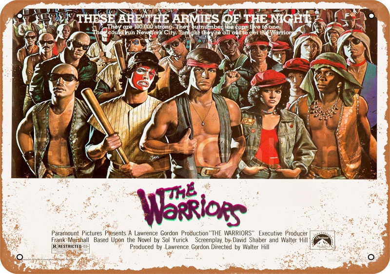 "Warriors 1979 10"" x 14"" Movie Poster Metal Sign"