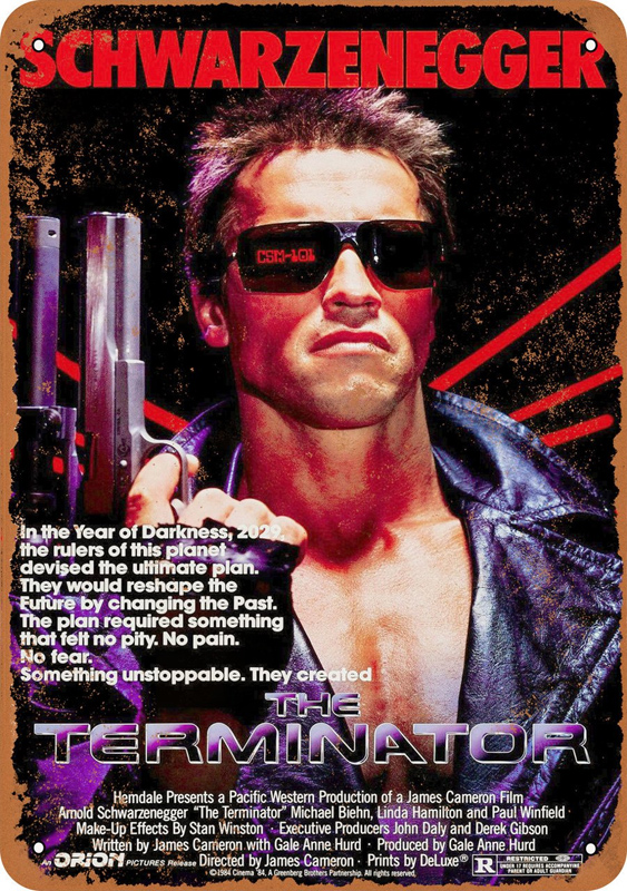 "Terminator 1984 Movie Poster 10"" x 14"" Metal Sign"