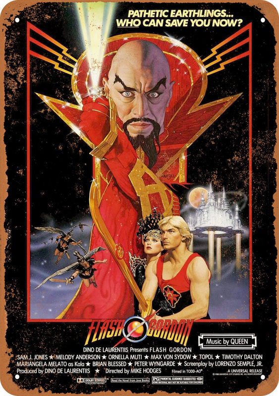 "Flash Gordon 1980 #1 Movie Poster 10"" x 14"" Metal Sign"