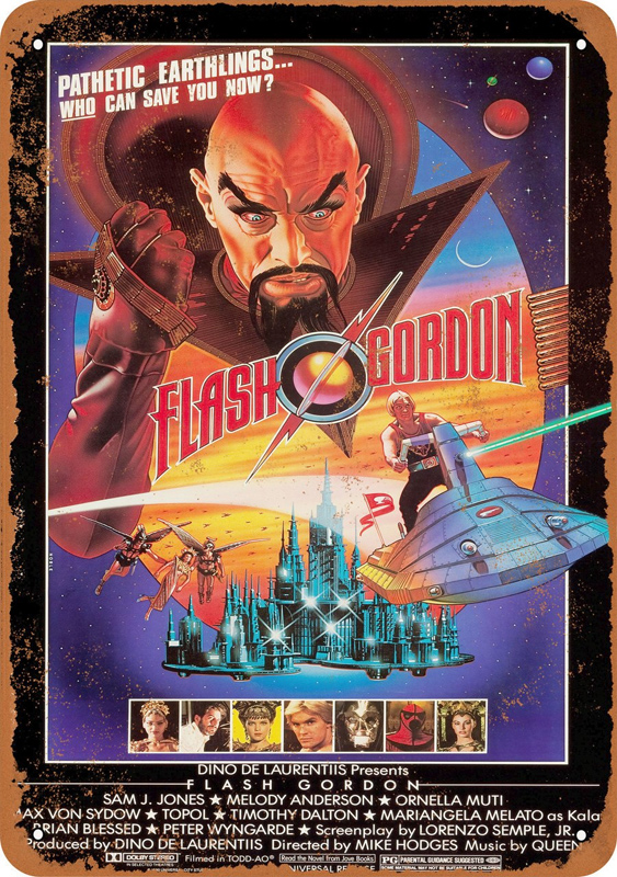 "Flash Gordon 1980 #2 Movie Poster 10"" x 14"" Metal Sign"