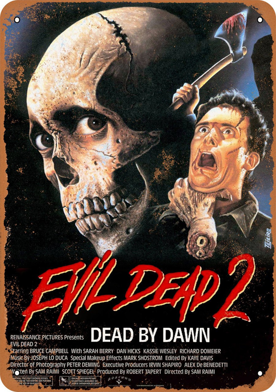 "Evil Dead 2 1987 Movie Poster 10"" x 14"" Metal Sign"