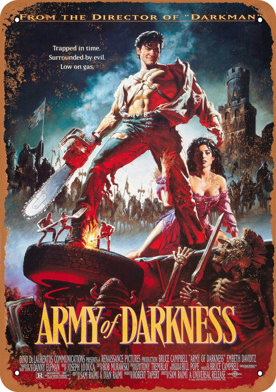 "Army of Darkness 1992 Movie Poster 10"" x 14"" Metal Sign"