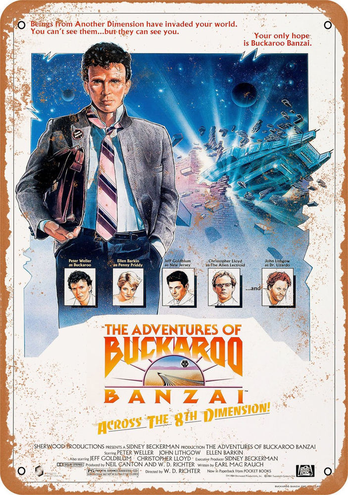 "Buckaroo Banzai 1984 Movie Poster 10"" x 14"" Metal Sign"