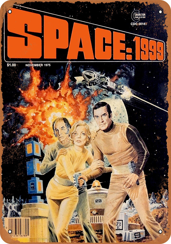 "Space 1999 1975 Magazine 10"" x 14"" Metal Sign"