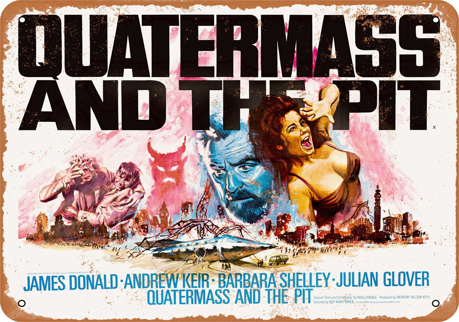 "Quatermass and the Pit 1967 10"" x 14"" Metal Sign"