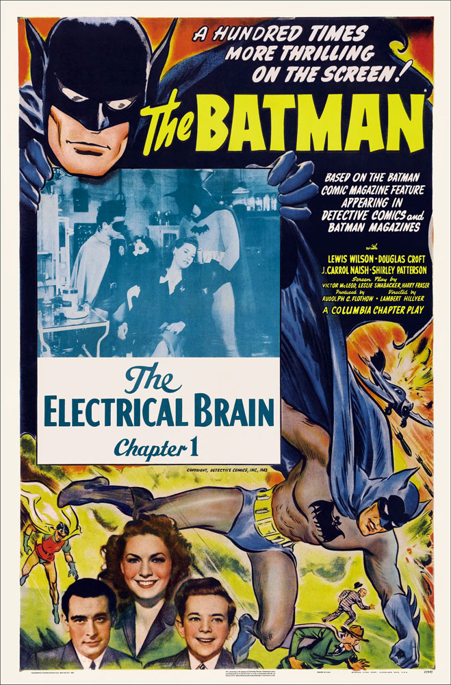 Batman 1953 Chapter 1 The Electrical Brain One Sheet Reproduction Poster