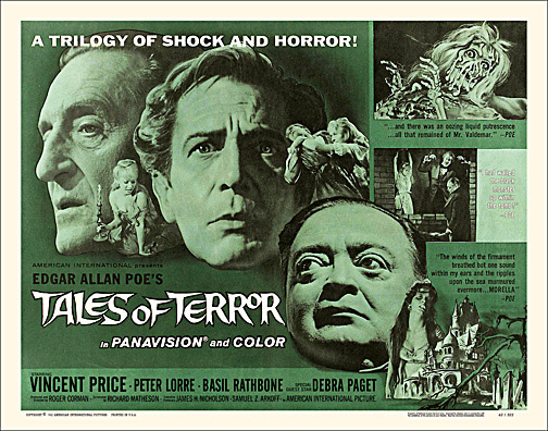 Tales of Terror 1962 Half Sheet Reproduction Poster Vincent Price
