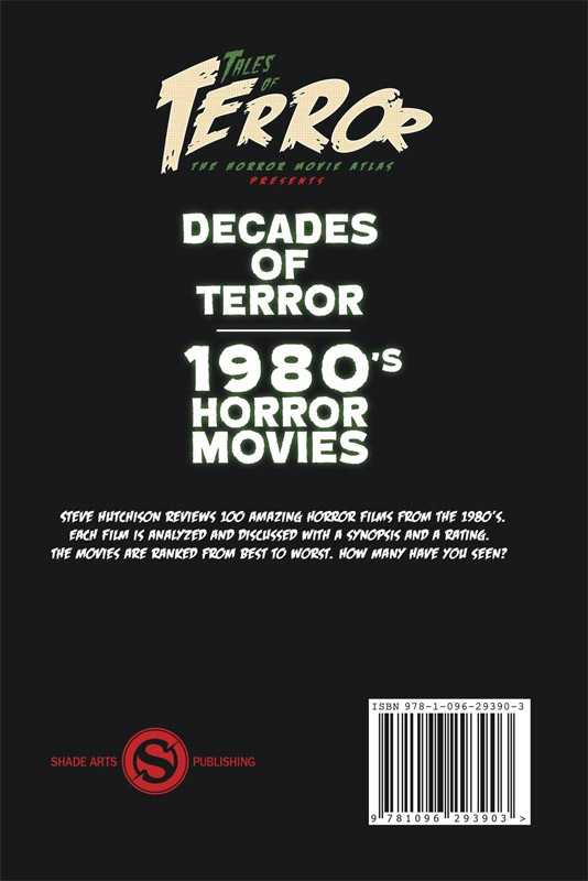 Decades of Terror 2019: 1980's Horror Movies Book
