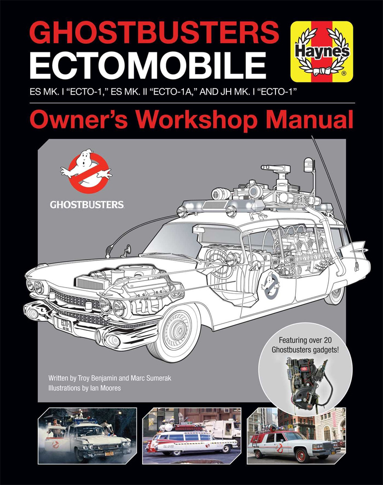 Ghostbusters Ectomobile Owner's Workshop Manual Hardcover Book
