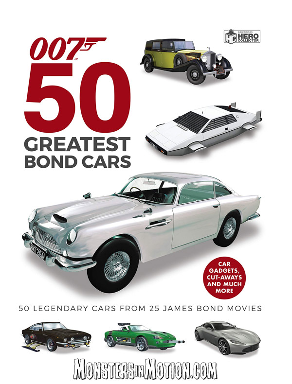 James Bond 007 50 Greatest James Bond Cars Hardcover Book