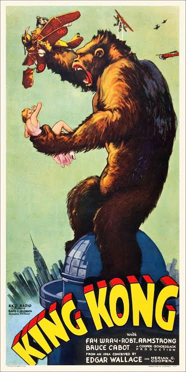 "King Kong Upright Six Sheet Poster Replica 20"" X 40"""