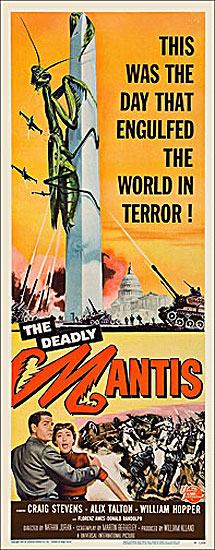 Deadly Mantis 1957 Insert Card Poster Reproduction
