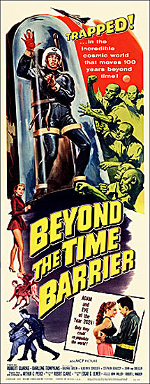 Beyond the Time Barrier 1960 Insert Card Poster Reproduction