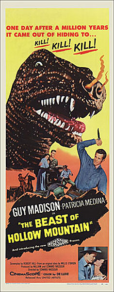 Beast of Hollow Mountain 1958 Insert Card Poster Reproduction
