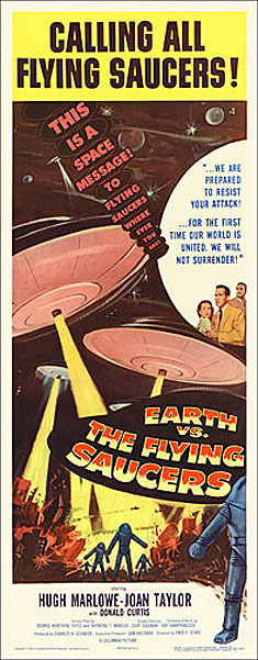 Earth vs. The Flying Saucers 1955 Insert Card Poster Reproduction Ray Harryhausen