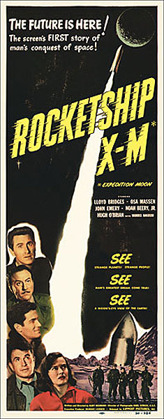 Rocketship X-M 1950 Insert Card Poster Reproduction