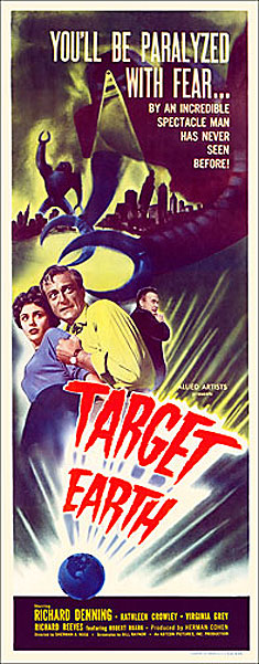 Target Earth 1954 Insert Card Poster Reproduction
