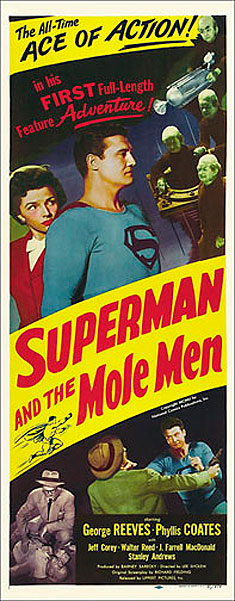 Superman and the Mole Men 1951 Insert Card Poster Reproduction