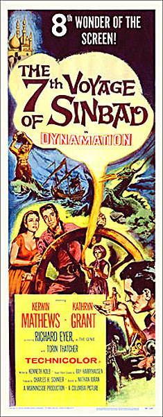 7th Voyage of Sinbad 1958 Insert Card Poster Reproduction