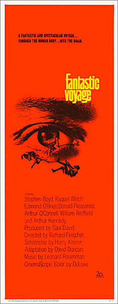 Fantastic Voyage 1966 Raquel Welch Insert Card Poster Reproduction