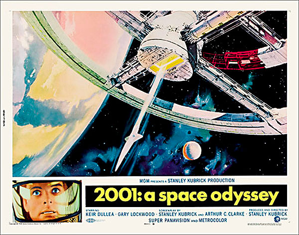 2001: A Space Odyssey 1968 Half Sheet Poster Reproduction