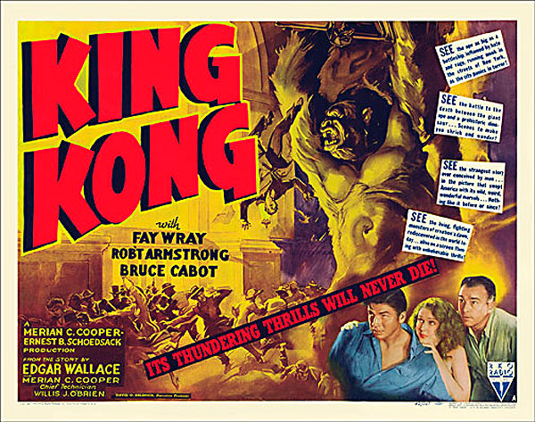 "King Kong 1942 Style ""A"" Half Sheet Poster Reproduction"