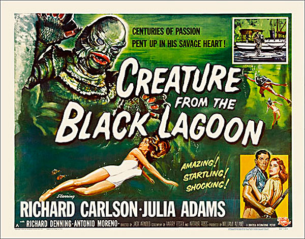 "Creature from the Black Lagoon 1954 Style ""A"" Half Sheet Poster Reproduction"