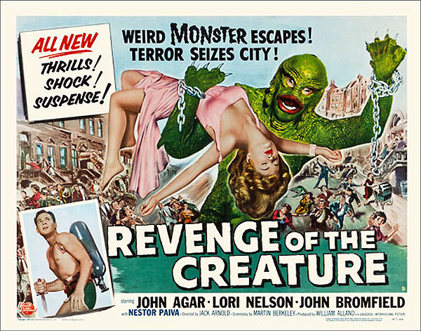 "Revenge of the Creature 1955 Style ""B"" Half Sheet Poster Reproduction"