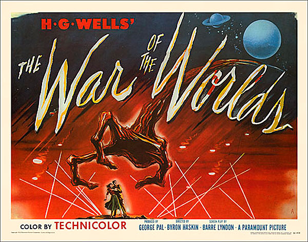 "War of the Worlds 1953 Style ""A"" Half Sheet Poster Reproduction"