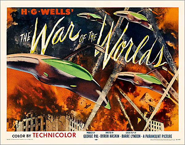 "War of the Worlds 1953 Style ""B"" Half Sheet Poster Reproduction"