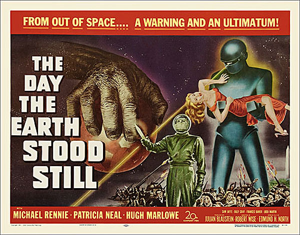 Day The Earth Stood Still 1951 Half Sheet Poster Reproduction