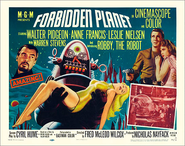 "Forbidden Planet 1956 Style ""A"" Half Sheet Poster Reproduction"