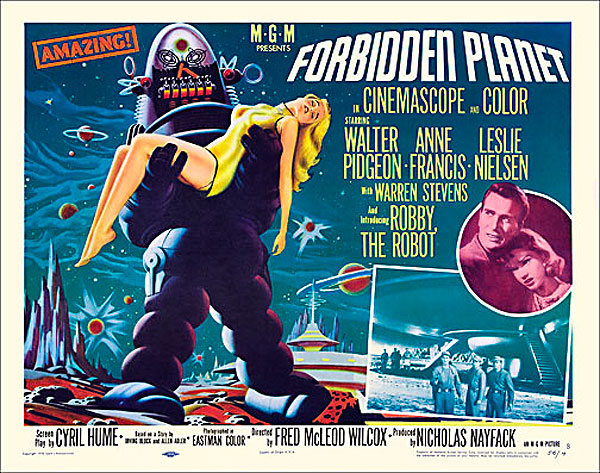 "Forbidden Planet 1956 Style ""B"" Half Sheet Poster Reproduction"
