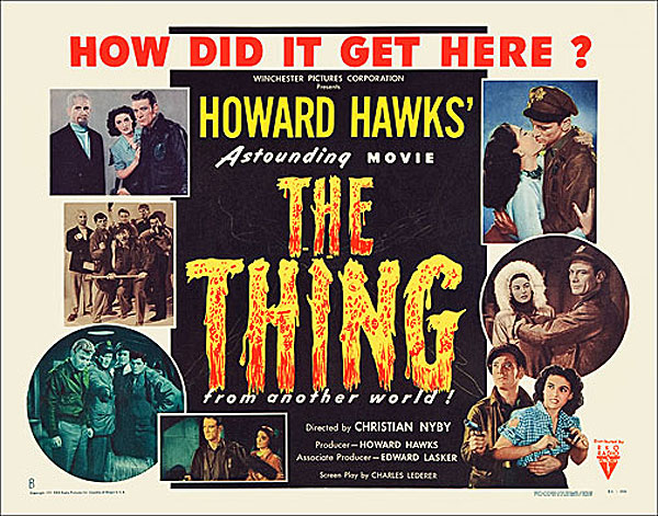 "Thing from Another World 1951 Style ""B"" Half Sheet Poster Reproduction"