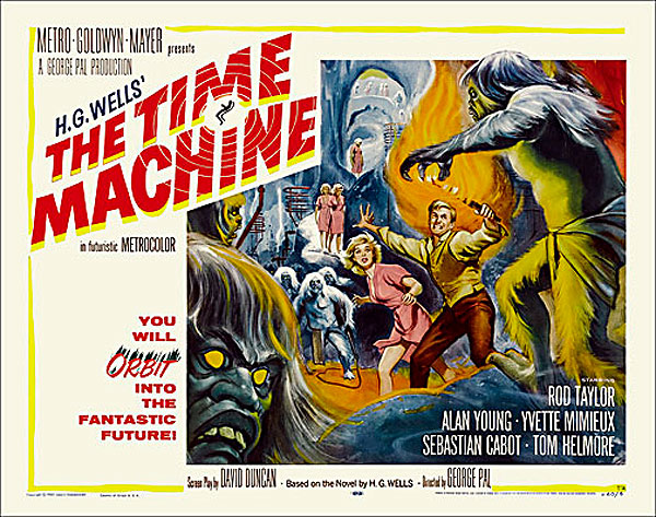 "Time Machine 1960 Style ""A"" Half Sheet Poster Reproduction"