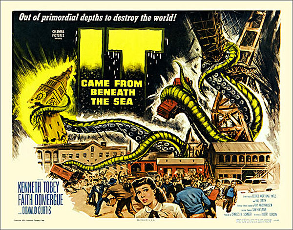 IT Came from Beneath the Sea 1955 Half Sheet Poster Reproduction