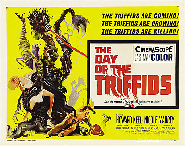Day of the Triffids, The 1962 Half Sheet Poster Reproduction