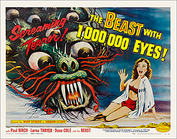 Beast with 1,000,000 Eyes 1955 Half Sheet Poster Reproduction